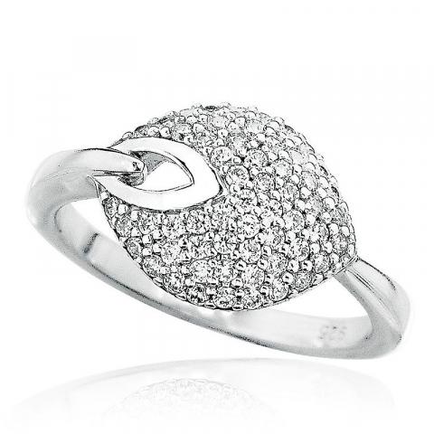 Bezaubernd weißem Zirkon Ring aus Silber