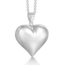 Schöner RS of Scandinavia Herz Anhänger mit Halskette in Silber