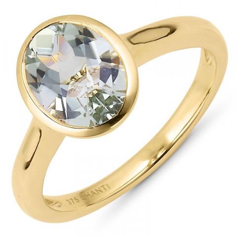 Süß ovaler amethyst ring aus 9 karat gold