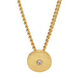 Süßer NORDAHL ANDERSEN runder Anhänger mit Halskette in vergoldetem Sterlingsilber weißem Zirkon