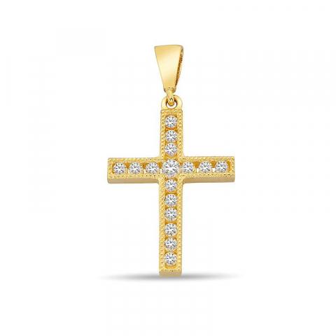 Süßer Kreuz Anhänger aus 9 Karat Gold