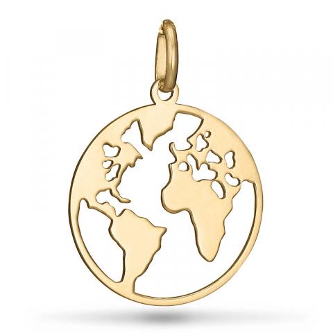 World anhänger aus 9 karat gold
