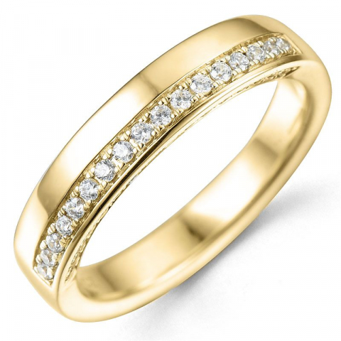 Bestellware - diamantring in 14 karat gold 0,25 ct