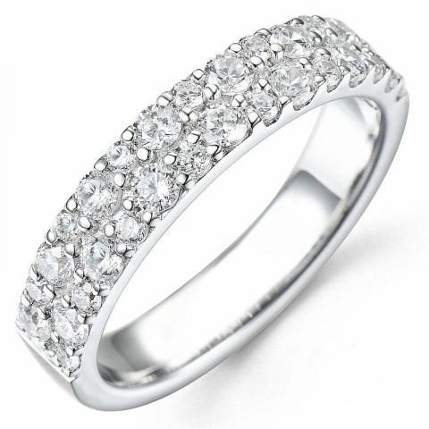 Bestellware - diamantring in 14 karat weißgold 0,87 ct