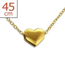 Herz Halskette aus vergoldetem Sterlingsilber und Anhänger aus vergoldetem Sterlingsilber