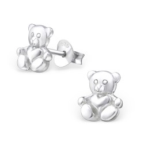 Lieben Teddybär Ohrstecker in Silber