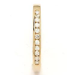 Eng weißem Zirkon Gold Ring aus 9 Karat Gold