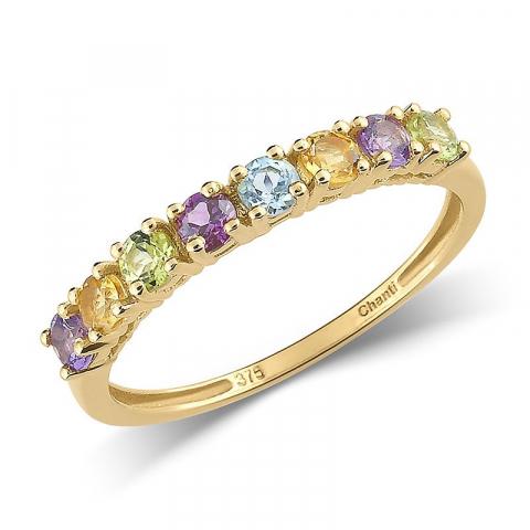 Eng mehrfarbigem ring aus 8 karat gold