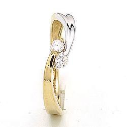 Fein Ring aus 9 Karat Gold und Weißgold