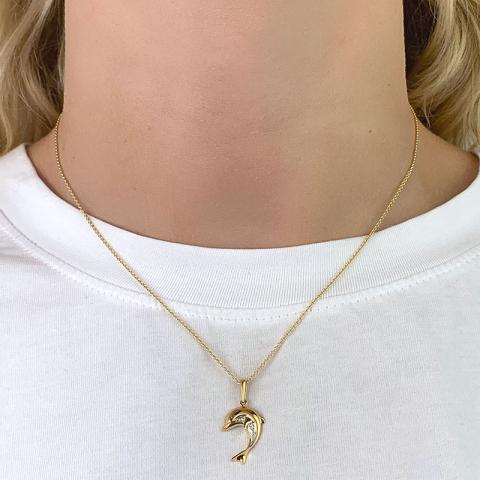 Delfin Anhänger aus 9 Karat Gold