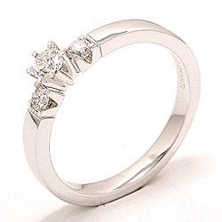 Bestellware - Diamant Ring in 14 Karat Weißgold 0,20 ct 0,16 ct