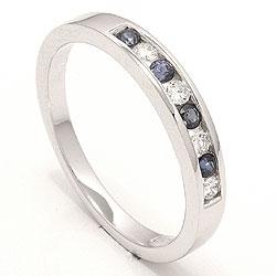 Bestellware - blauem Saphir Ring in 14 Karat Weißgold 0,12 ct 0,20 ct