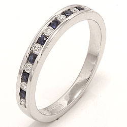 Bestellware - Saphir Ring in 14 Karat Weißgold 0,17 ct 0,24 ct