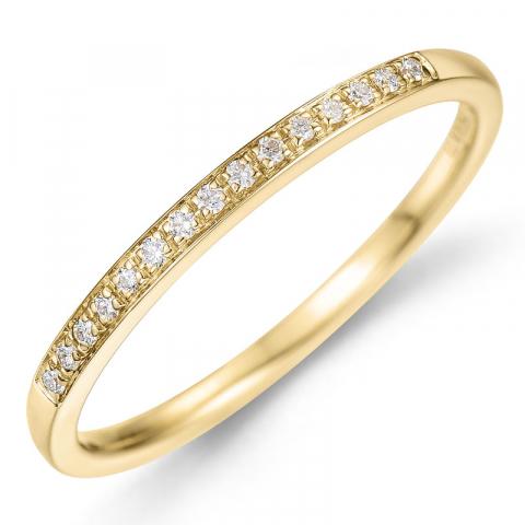 Diamant Ring in 14 Karat Gold 0,09 ct