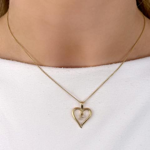 Diamantanhänger in 14 karat Gold 0,04 ct