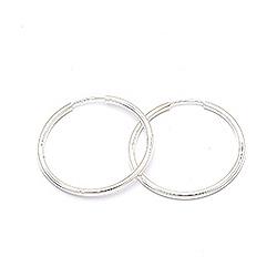 50 mm Scrouples Kreole in Silber