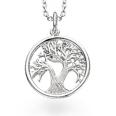 15 mm scrouples lebensbaum anhänger mit halskette in silber
