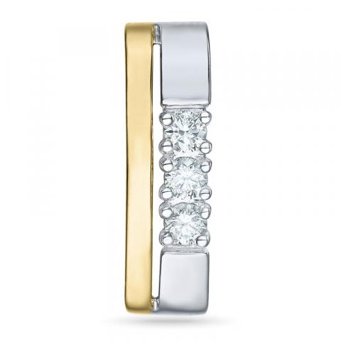 Diamantanhänger in 14 karat Gold- und Weißgold 0,15 ct