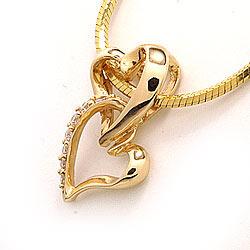 Diamantanhänger in 14 karat Gold 0,07 ct