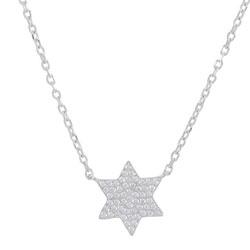 Frost by Noa Stern Halskette in rhodiniertem Silber weißem Zirkon