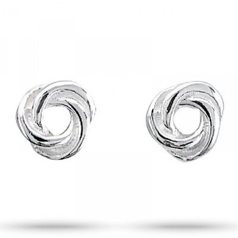 Lieben Aagaard Knoten Ohrringe in Silber