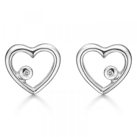 lieben Støvring Design Ohrringe in rhodiniertem Silber weißem Diamant