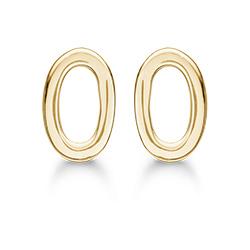 Støvring Design ovaler Ohrringe in vergoldetem Sterlingsilber