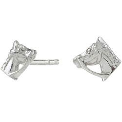 Schöne Siersbøl Pferde Ohrringe in Silber