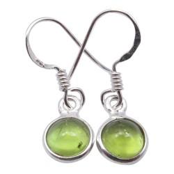 Preiswerten grünen Ohrringe in Silber
