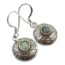 Modernen runden Ohrringe in oxidiertem Sterlingsilber
