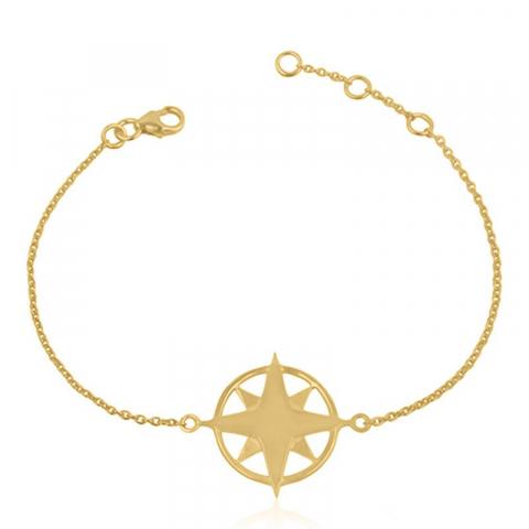Stern armband aus vergoldetem sterlingsilber und stern aus vergoldetem sterlingsilber