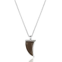 Horn Topas Halskette aus Silber und Anhänger aus Silber