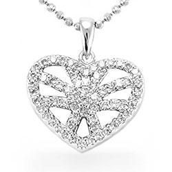 Eleganter Herz Anhänger aus Silber