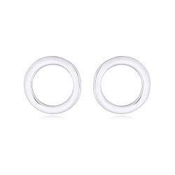Modernen runden Ohrstecker in Silber