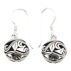 Runder Ohrringe in Silber