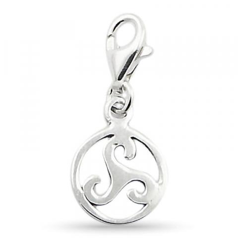 Eleganter runder Charm Anhänger aus Silber