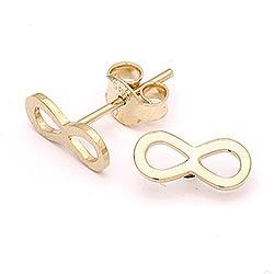 Eleganten infinity Ohrringe in 14 Karat Gold