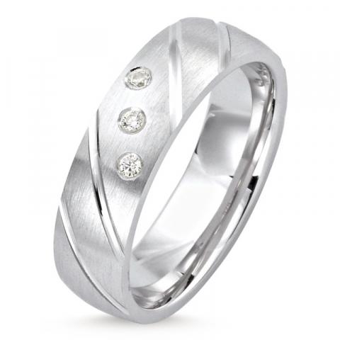 schöner Ring aus rhodiniertem Silber