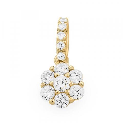 Schöner runder Diamantanhänger in 14 karat Gold 0,48 ct