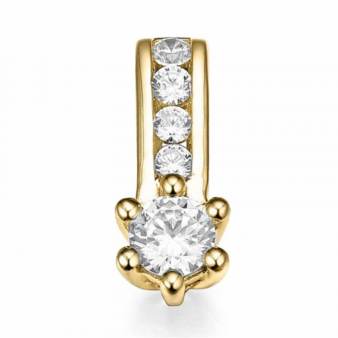Eleganter Diamant Anhänger in 14 karat Gold 0,14 ct 0,064 ct