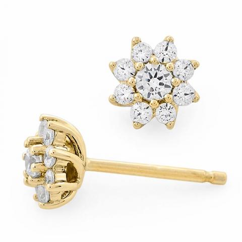 Diamantohrringe in 14 karat gold mit diamanten