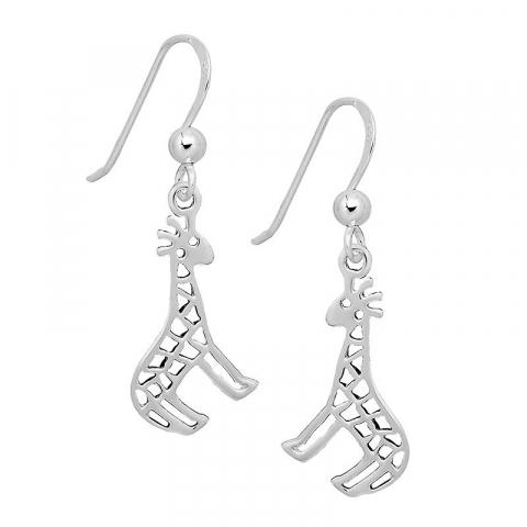 Feinen Giraffe Ohrringe in Silber