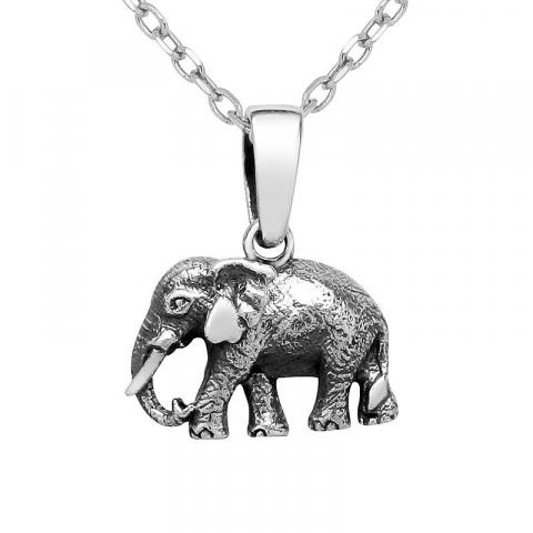 Eleganter Elefant Anhänger aus Silber