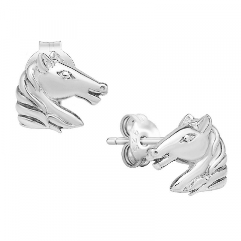 Modernen Pferde Ohrstecker in Silber