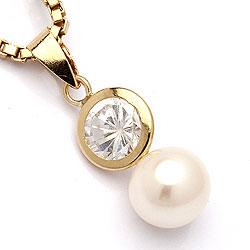 Perle Gold Anhänger aus 9 Karat Gold