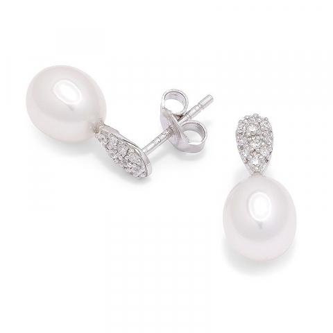 Schmuck für Frauen: Perle Ohrstecker in Silber