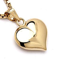 Schön Herz Anhänger aus 9 Karat Gold