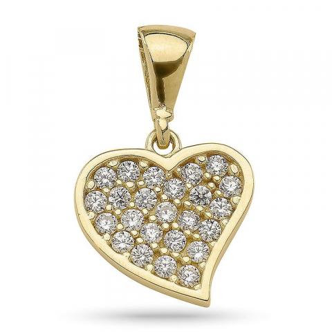 Klein Herz Anhänger aus vergoldetem Sterlingsilber