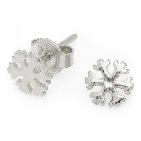 Bezaubernder Schneeflocke Silberohrstecker in Silber
