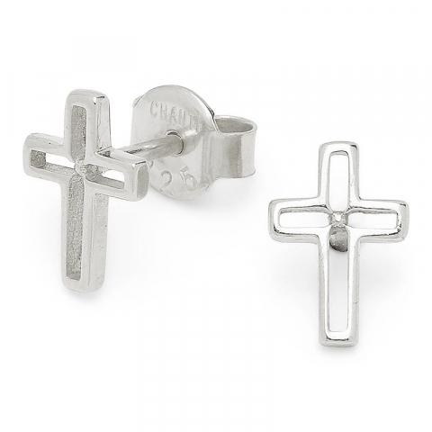 Kleinen Kreuz Silberohrstecker in Silber